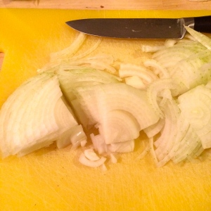 onion chopping